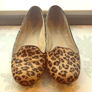 Ellen Tracy Cheetah Dudley Smoking Shoes